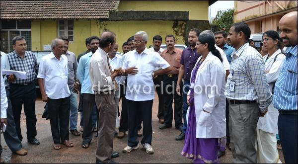 Mlore J R Lobo visits Lady Goshen Hospital, fish market