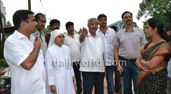 Mlore J R Lobo inspects devt works along national highway