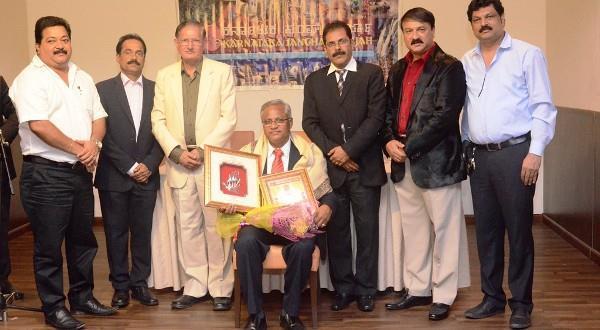 Dubai Karnataka Sangha Sharjah honours Ronald Colaco, J R Lobo