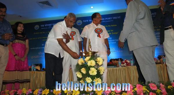 Mangalore Union Minister Veerappa Moily dedicates new POL berth at NMPT