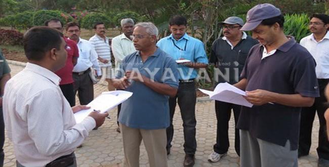 J R Lobo along with DC inspects Kadri Park development works