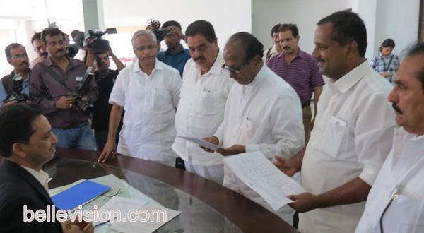 Mangalore Cong Veteran Leader Janardhan Poojary files nomination papers