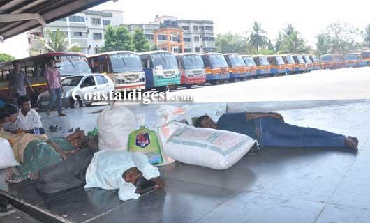Passengers stranded in Mangalore as bandh hits bus services