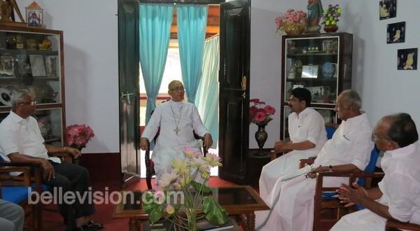 Mlore Kerala minister K C Joseph meets Bishop Dr Aloysius