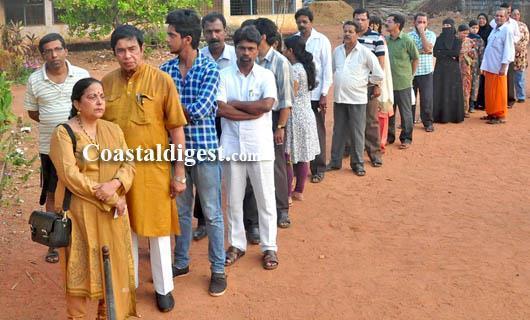 Moderate to brisk polling across Coastal Karnataka