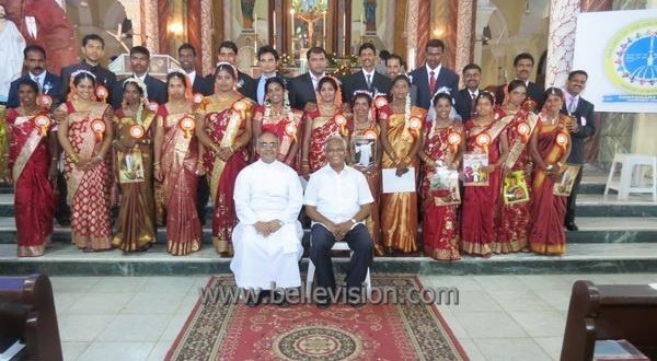 Mangalore 21 Couples wedded during Mass Weddings at Rosario Cathedral