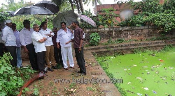 Mlore Karmbikere-Nature Pond Contaminated; MLA Lobo instructs Civic Body to Plug Drains