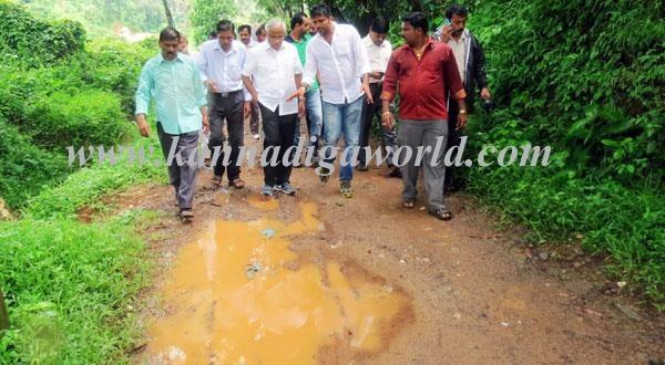 MLA J R Lobo visits Bolla Kallathodu, a flood affected region
