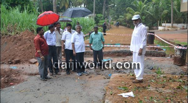 Mangalore J R Lobo inspects concretization, traffic diversions, pipeline works in city