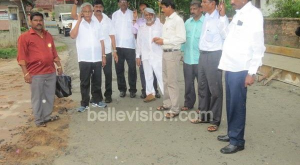 Mangalore MLA J R Lobo inspects concreting works, traffic diversions, water supply in city