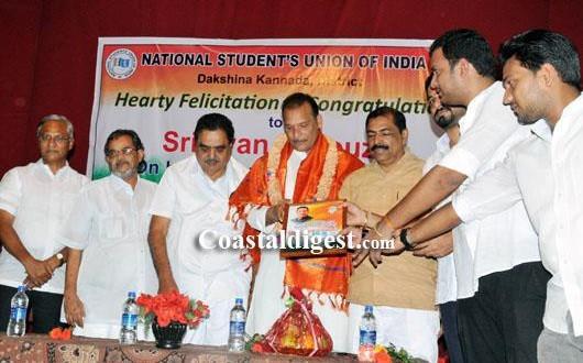 New MLC Ivan D'Souza felicitated in Mangalore