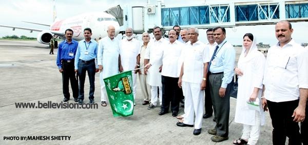 Minister Roshan Baig flags-off AIE Flight carrying first batch of Haj Pilgrims