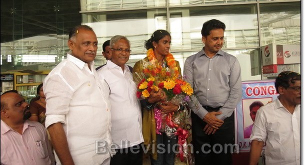 Golden Girl Poovamma Receives Grand Welcome in Mangalore
