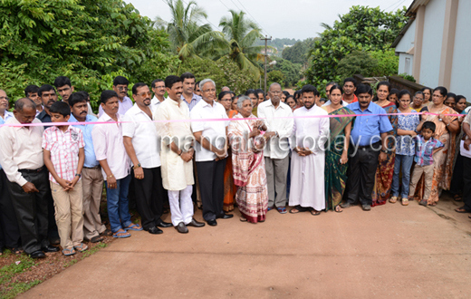 MLA J.R.Lobo inaugurates Mariaguri Church Road at Padavu