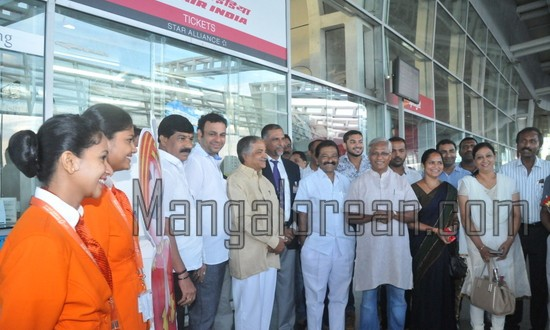 Mangalore: Re-introduced Mangalore-Kuwait First Flight Takes Off with MLA J R Lobo On Board