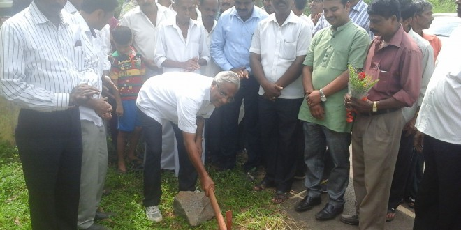 Foundation stone laid for flood control works worth Rs. 3.40 crores by J R Lobo in Mangalore South constituency