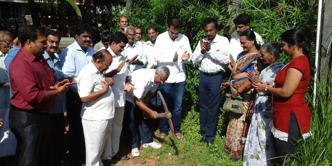 Foundation stone laid for flood control works worth Rs. 25 Lakhs by J R Lobo in Mangaluru South constituency