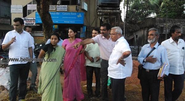 Mangaluru: MLA J R Lobo inspects concreting work on Kadri-Nantoor Road