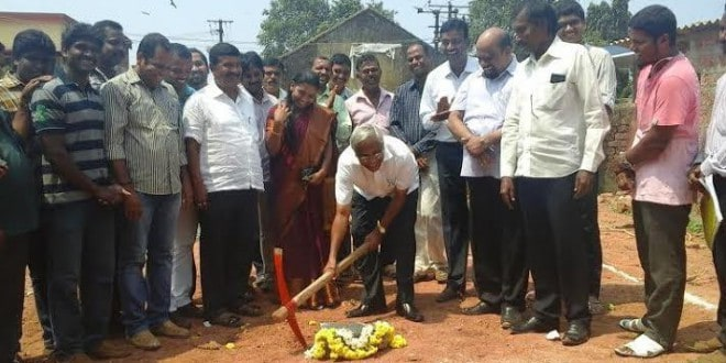 Mangaluru: MLA J R Lobo lays foundation for home for homeless at Kasaba Bengre