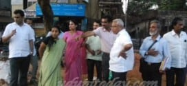 Mangaluru: J.R. Lobo inspects Nanthur road concreting work