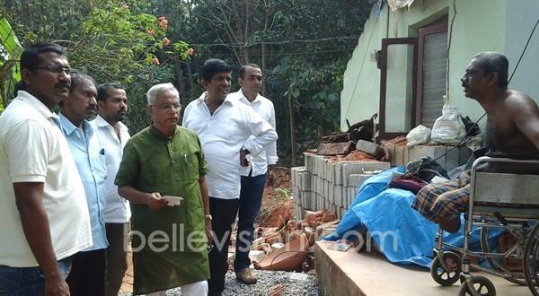 Mangaluru: House collapses at Maroli, MLA Lobo assures monetary help for repairs