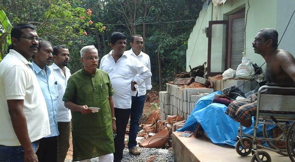 House collapses at Maroli, Lobo promises monetary help in 3 days