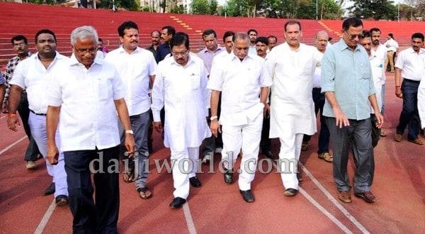 Mangaluru: Athletics Federation Cup - Parameshwar inspects Mangala Stadium
