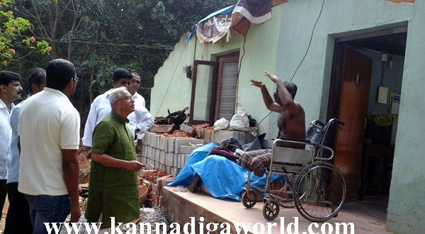 House collapses in Maroli, MLA Lobo promises monetary help in three days