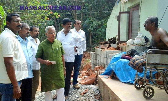 MLA J R Lobo Visits Dayakar Bangera - Assures Financial Help