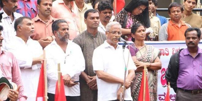 Mangaluru: MLA J R Lobo clarifies Ashraya Housing issue to protesters
