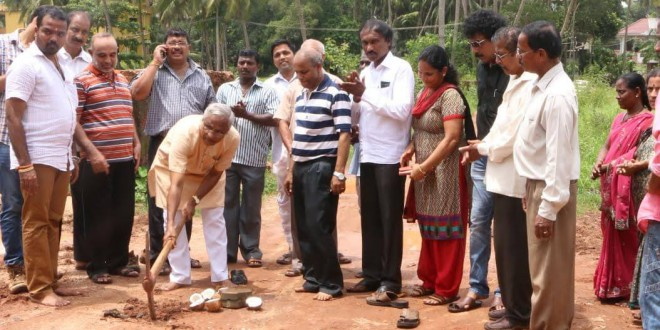 Mangaluru: Foundation laid to concreting Arakerebail Bolar Road
