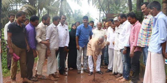 Mangaluru: MLA J R Lobo lays foundation for concreting road works in Bajal
