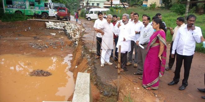Spot inspection by MLA, Mayor to Bejai, Kaikamba market and Alape railway underpass