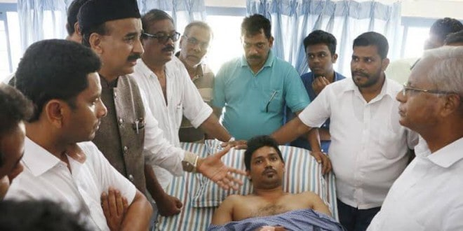 Mangaluru: MLA J R Lobo visits victim of moral policing at hospital