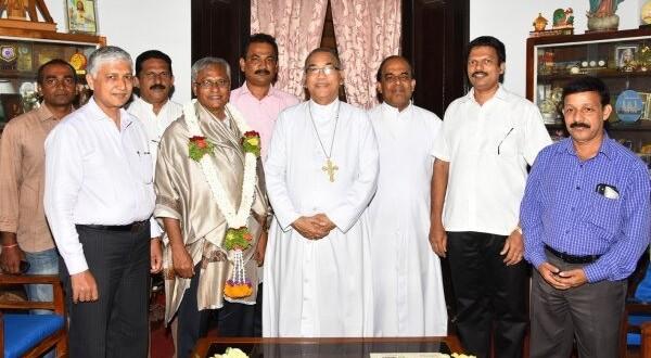 Mangaluru: Bishop felicitates MLA J R Lobo