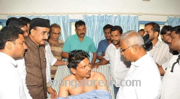 MLA J R Lobo Visits Attavar Assault Victim Shakir, Assures Justice