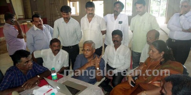 MLA J R Lobo Inspects Town Hall Renovation Work, Instructs to Complete by October 2015