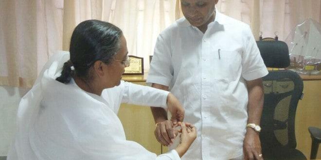 Brahma Kumaris tie Raksha Bandhan to MLA JR Lobo