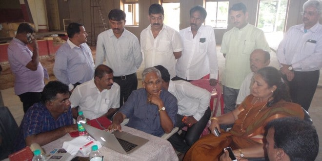 Town hall inspection by MLA, mayor and corporation officials