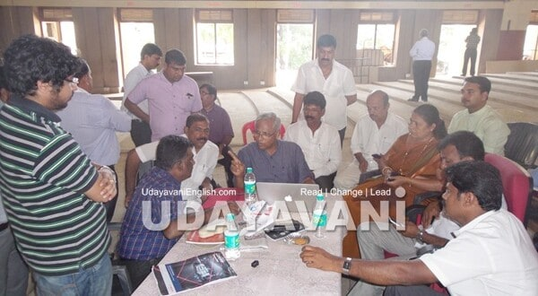 MLA JR Lobo inspects renovation of Town Hall