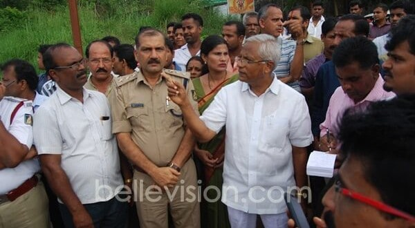 M'luru: MLA J R Lobo inspects accident zone Padil junction on NH 75; suggests remedies