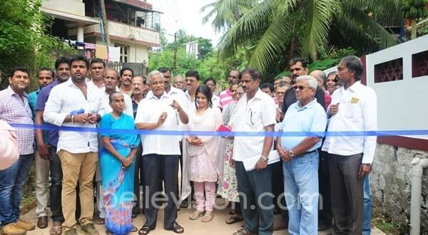 Mangaluru: MLA J R Lobo inaugurates concreted Guruprasad Road at Kankanady