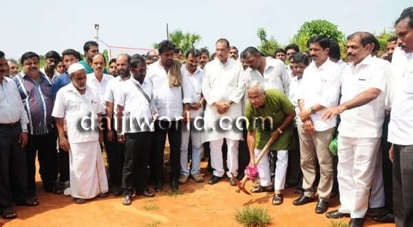 Foundation stone laid for play ground at KHB colony