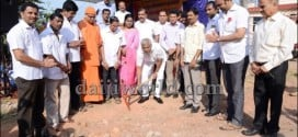 J R Lobo lays foundation for mini park at Bejai