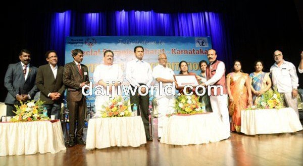 Mangaluru: J R Lobo felicitates Special Olympics Bharat team