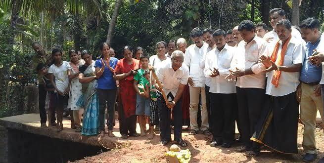 Mangaluru: Foundation laid for barrier wall at Bajjody, Prem Nagar