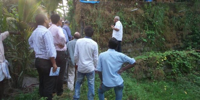 Mangaluru: MLA Lobo inspects ground work for undertaking 2nd phase of ADB works